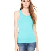 Ladies' Sheer Mini Rib Racerback Tank