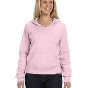 Ladies' 10 oz. Garment-Dyed Front-Slit Pullover Hood