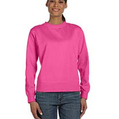 Ladies' 10 oz. Garment-Dyed Wide-Band Fleece Crew