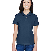 Ladies' 6 oz. Ringspun Cotton Piqué Short-Sleeve Polo