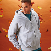 Adult Cross Weave® Full-Zip Hooded Blend Sweatshirt