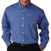 UltraClub® Men's Wrinkle-Free End-on-End Shirt