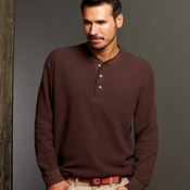 UltraClub® Adult Mini Thermal Henley