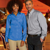 Men's Long-Sleeve Non-Iron Pinpoint Oxford
