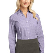 Ladies Plaid Pattern Easy Care Shirt