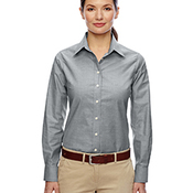 Ladies' Long-Sleeve Oxford with Stain-Release