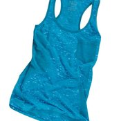 Juniors' Burnout Tank Top with a Pocket