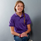 Youth Jersey Polo with SpotShield