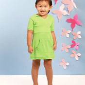 Toddler Hooded V-Neck Dress