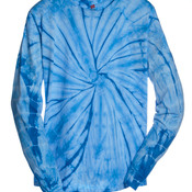 Adult Tie-Dyed Long-Sleeve Cotton Tee