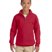 Youth 8 oz., 50/50 NuBlend® Quarter-Zip Cadet Collar Sweatshirt