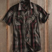 Plaid Short Sleeve Shirt