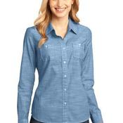 ™ Ladies Long Sleeve Washed Woven Shirt