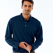 UltraClub Adult Cool & Dry Long-Sleeve Stain-Release Performance Polo