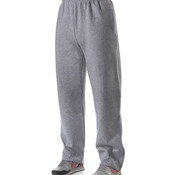 Adult Combed Ring-Spun Blended CVC Fleece Open Bottom Pant
