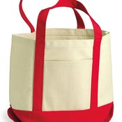 Seaside Small Cotton Canvas Boater Tote