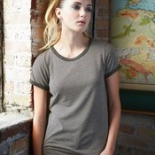 Ladies' Eco Mock Twist Ideal Ringer Tee