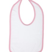 Infant Jersey Contrast Trim Closure Bib