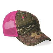 Camo Cap with Neon Mesh Back