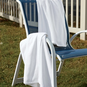 UltraClub White Velour Beach Towel
