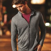 Triblend Hooded Full-Zip T-Shirt