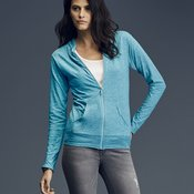 Triblend Women's Hooded Full-Zip T-Shirt
