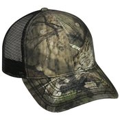 Oil Stained Camo Trucker Cap