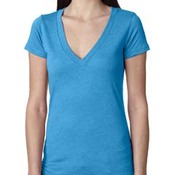 Ladies' Triblend Deep V