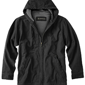 Men's 100% Cotton 12 oz. Canvas/Polyester Thermal Lining Hooded Tall Laredo Jacket