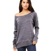 Ladies' Sponge Fleece Wide Neck Sweatshirt