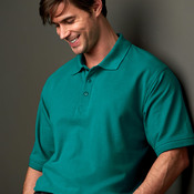 UltraClub® Men's Whisper Piqué Polo