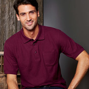 UltraClub® Adult Whisper Piqué Polo with Pocket
