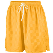 Youth Long Length Checkerboard Nylon Soccer Short