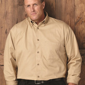 Long Sleeve Cotton Twill Shirt Tall Sizes