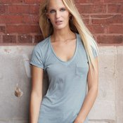Ladies' Vintage Burnout V-Neck Favorite T-Shirt