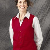 V-neck Button-Front Vest