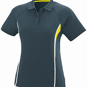 Ladies Wicking Polyester Mesh Sport Shirt with Contrast Inserts