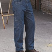 Flame Resistant Pre-Washed Denim Dungaree