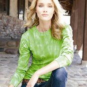 Ladies' Hannah Long Sleeve Tie-Dyed Thermal T-Shirt