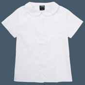 Girls' Short Sleeve Peter Pan Poplin Blouse