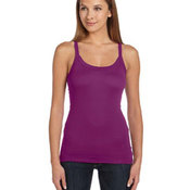 Ladies' Sheer Mini Rib Thin Strap Tank