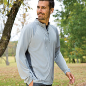 UltraClub® Adult Cool & Dry Sport Long-Sleeve 1/4-Zip