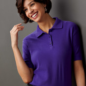 UltraClub® Ladies' Whisper Piqué Polo
