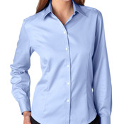 Ladies' Long-Sleeve Non-Iron Pinpoint Oxford