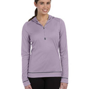 Ladies' Half-Zip Long-Sleeve Hoodie