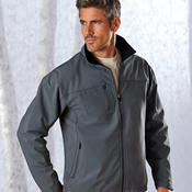 UltraClub® Adult Soft Shell Jacket with Cadet Collar