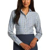 Ladies Tricolor Check Non Iron Shirt