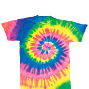 Gildan Tie-Dye Youth Neon Pigment-Dyed Spiral Rainbow Tee