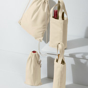 UltraClub Cotton Canvas Drawstring Pack