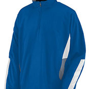 Adult Water Resistant Polyester Diamond Tech Half Zip Pullover
